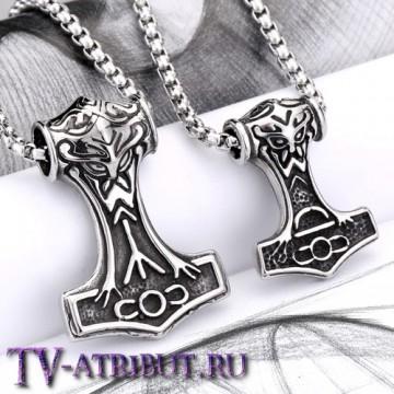"""Кулон """"Молот Тора"""", титановая сталь (2 размера)"""