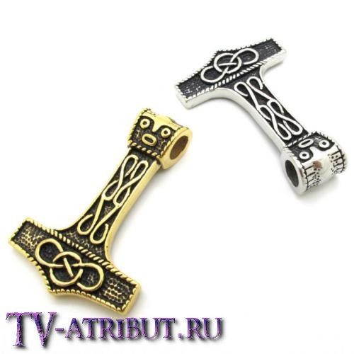 """Кулон """"Молот Тора"""", сталь (цвета - серебро, золото)"""