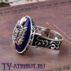 Кольцо Сальваторе с любой буквой, серебро 925 пробы