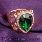 Кольцо Хюррем Султан с покрытием розовым золотом