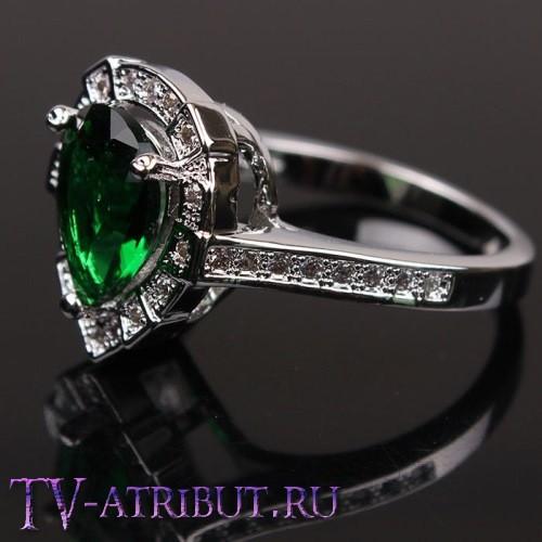 Кольцо Хюррем Султан с платиновым покрытием