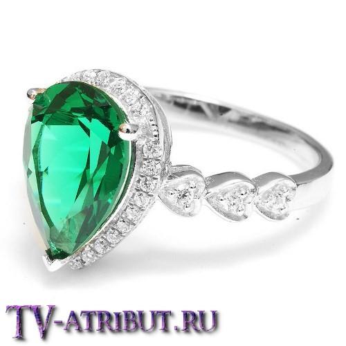 d5650a152ad0 Кольцо Хюррем Султан, серебро 925 пробы, иск. изумруд купить